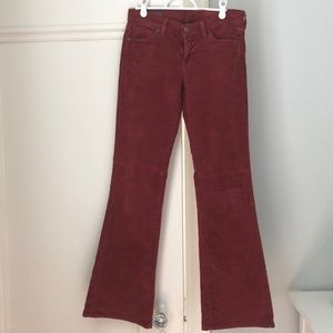 Citizens of Humanity burgundy corduroy pants
